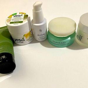 Skincare bundle/ lot Elizabeth Arden Elf YES to-